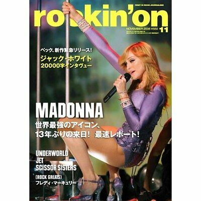 Madonna Photo special edition of ROCK ON for visiting JAPAN 2006,Very Good