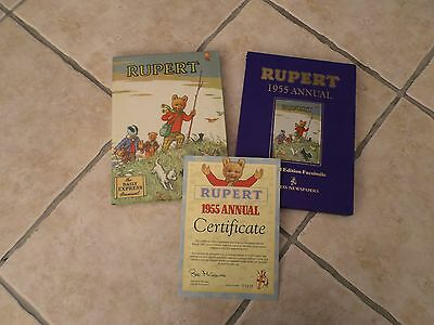 Rupert Bear 1955 Certified Limited Edition Annual Facsimile Collectable