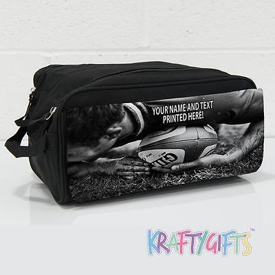 ab743e23d136 Personalised Rugby Scrum Team Boys Girls Black Boot Shoe Sports Bag ST476