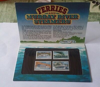 AUSTRALIA 1979 Presentation Pack - FERRIES & MURRAY RIVER STEAMERS - MNH stamps