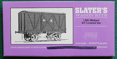 Slater'S 4Mm Scale Unbuilt Wagon Kit, Midland / Lms 10T Covered Van