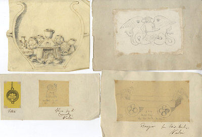 Late 19th Century Graphite Drawing - Classical Drawings