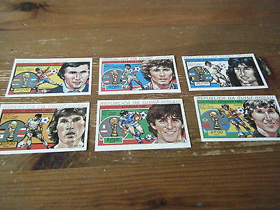 Set Of  6  Unperf   Spain  1982  World Cup Guinea - Bissau ( Africa ) Stamps