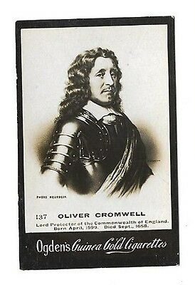 Ogdens - Guinea Gold - Card #137 - Oliver Cromwell - Very Good