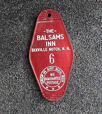 "Vintage Balsams Grand Resort Hotel Room Key Tag Fob "" Balsams Inn """