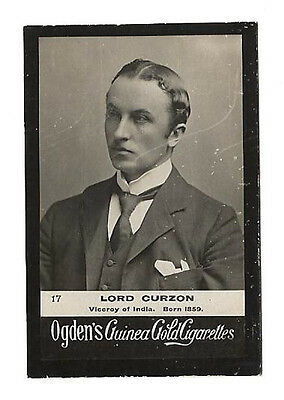 Ogdens - Guinea Gold - Card #17 - Lord Curzon - Very Good