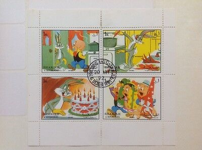 Bugs Bunny Postage Stamps Warner Brothers Cartoons Animation 1972 Sharjah