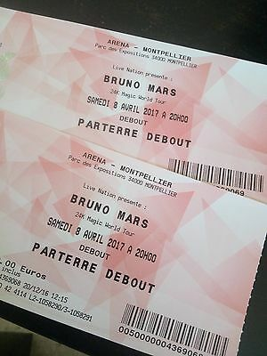 Places fosse Bruno Mars Montpellier