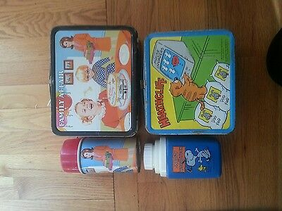 Collectible lunch boxes.  Family affair and heathcliff.