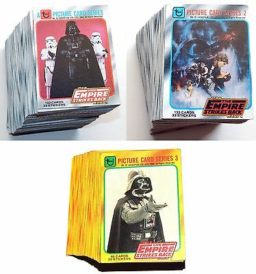 1980 Star Wars Empire Strikes Back Series 1 2 3 Trading Card Complete Set Sac/16