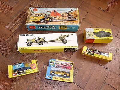 Lot Of Vintage Dinky Corgi Matchbox Diecast Vehicles Cars In Boxes