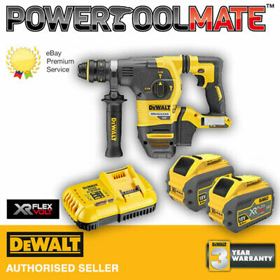 DeWalt DCH334X2-GB 2x9.0Ah Li-Ion 54V Flexvolt SDS Plus Hammer Drill Kit