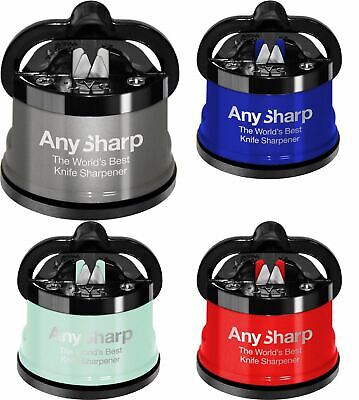 Kitchen Craft AnySharp World's Best Pro Metal Knife Sharpener with PowerGrip