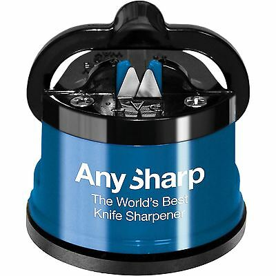 AnySharp Diamond Precision Knife Sharpener with Power Grip - Blue