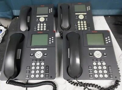 Lot of 4 Avaya 9630 VoIP Business Phones with stands and handsets!