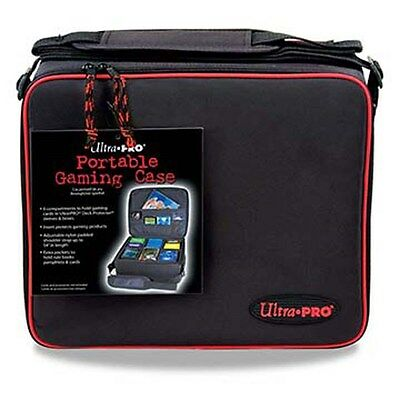 Ultra Pro 9 Gaming Case with Red Trim, Portable Gaming Case, New