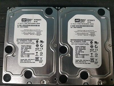 "Lot of 2 Western Digital RE3 750GB 7200RPM SATA 3Gbps 32MB 3.5"" WD7502ABYS HDD!"