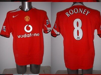 821118551 Manchester United Rooney Nike Shirt Jersey Football Soccer Adult L England  Top R