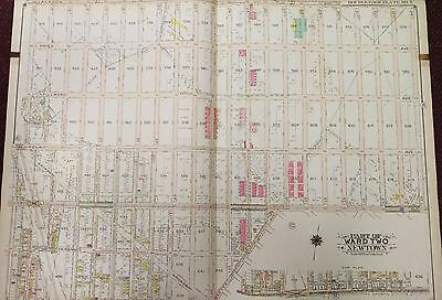1915 Updated To 1919 Woodside - Elmhurst  Queens Ny Reproduction Plat Atlas Map