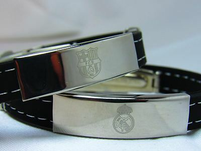 Football team Barcelona and Real Madrid Silicone with Stainless bracelet