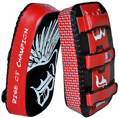 Thai Pad Kick Punching Strike Shield Muay Thai Kick Boxing Pad Curved Single x 1