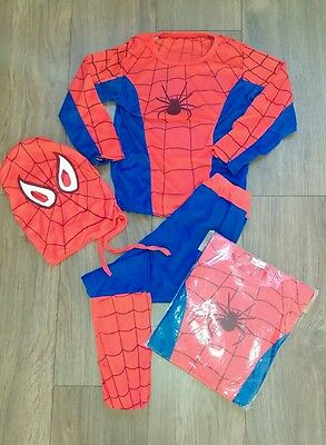 Kids spiderman complete outfit small 2-3 years up to 110cm Brand new