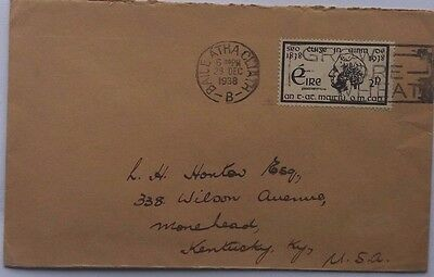 Ireland 1938 Cover With Mint Postage Stamp Company Dublin Sealing Label