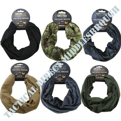 Mens Tactical Snood Head Wrap Scarf Balaclava Cadet Neckwarmer Army Airsoft