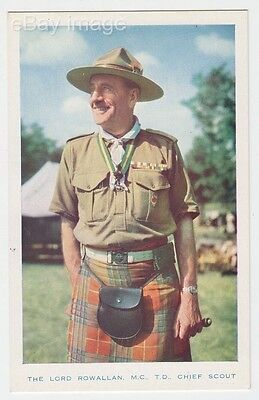 The Lord Rowallan M.C. T.D. - Chief Scout in uniform at camp