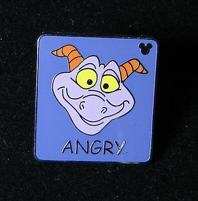 Hidden Mickey Angry Figment Disney Pin WDW