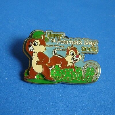 Chip and Dale Happy St. Patrick's Day WDW Disney PIn LE Patricks