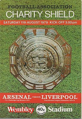 ARSENAL v LIVERPOOL 11.08.79 F.A.CHARITY SHIELD