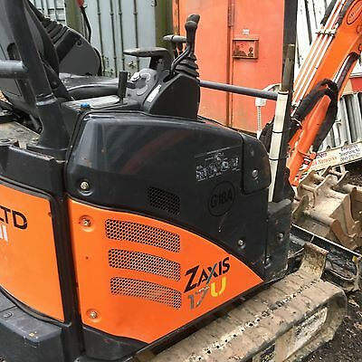 Hitachi Zx17U-2 Mini Excavator Digger +4 Buckets Qh Expandable Tracks £11000