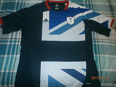 Rare  Team GB London 2012 Olympic Games Adidas Home Football Shirt - Size XL