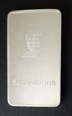 10 Troy Ounce Scotiabank .999 Fine Silver Bar - Lightly Used