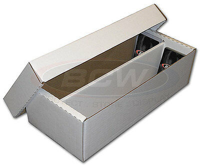 Card Storage Box Holds 1600 Cards - 3 Box Pack
