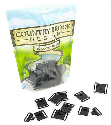 25 - Country Brook Design® 1 Inch Breakaway Center Release Plastic Buckle