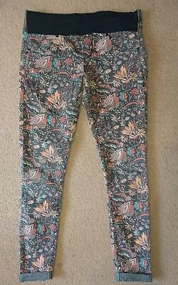 Topshop moto maternity jeans, floral paisley size 10