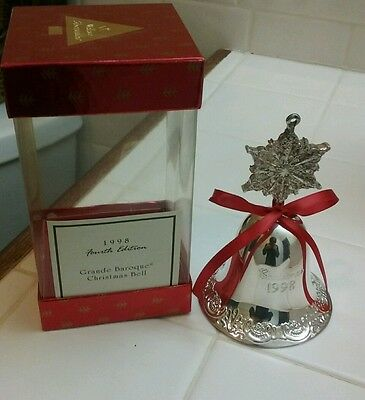 NEW in Box 1998 Walace Silversmiths Baroque Bell