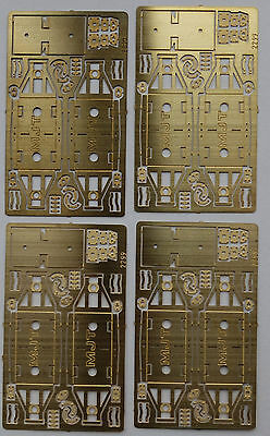 """Mjt 4 Mm Scale Compensation  """"w"""" Irons With Solebar Plates Etc, 1 Pkt Of 4 Sets"""