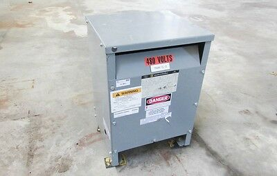 SQUARE D 15T3H 15kVA 3 Phase 208Y/120-480V Insulated Transformer