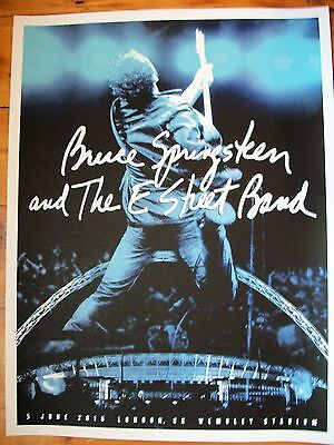Bruce Springsteen River Tour 2016 Official Poster London Wembley Stadium England