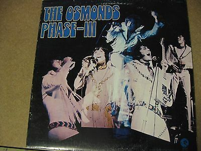 Collectible Mgm The Osmonds Phase-Iii  33 Rpm Record
