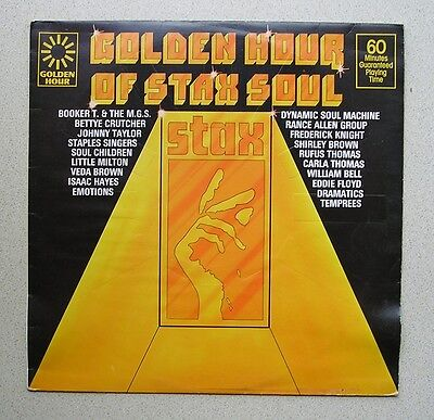 LP  - ' GOLDEN HOUR OF STAX SOUL '  (1976)   PYE GH 851 - Booker T, Isaac Hayes+