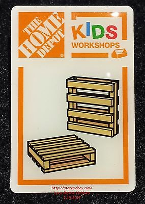 LMH PINBACK Pin  PALLET COASTERS  Wood Cup Glass Holder Home Depot Kids Workshop