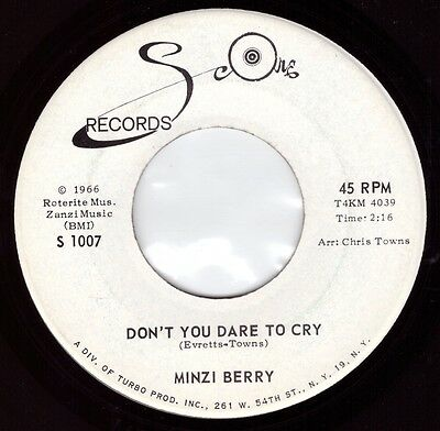 Northern Soul - Minzi Berry - Don't You Dare To Cry (DEMO) **Listen**