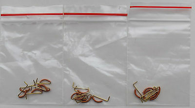 4 Packets Of 6 Each, Brass Upright Vacuum Pipes, 4Mm Scale