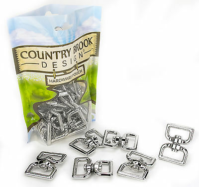 10 - Country Brook Design® 1 Inch Rectangle Double Eye Swivel Rings