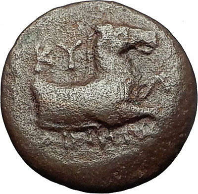KYME in AEOLIS - Genuine 350BC Horse & Vase Authentic Ancient Greek Coin i59382