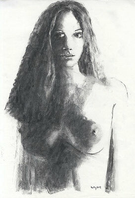 Kelly - 2012 Charcoal Drawing, Female Nude